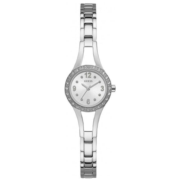 Guess GWW1034L1 Crystal Bezel Silver-tone Ladies Watch - Watch it! Pte Ltd