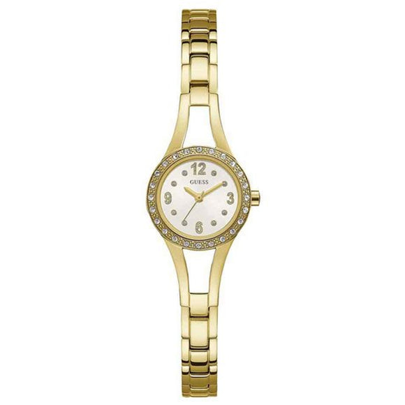 Guess GWW1034L2 Crystal Bezel Gold-tone Ladies Watch - Watch it! Pte Ltd