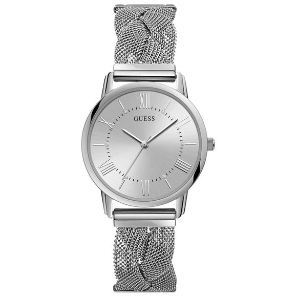 Guess GWW1143L1 Maiden Silver Mesh Strap Ladies Watch - Watch it! Pte Ltd