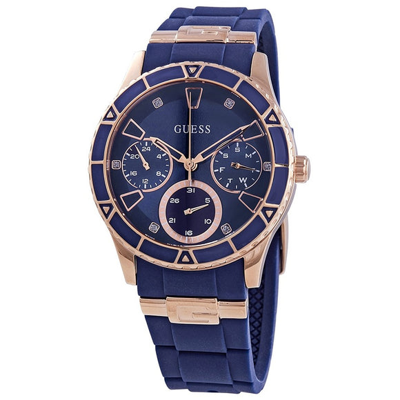 Guess GWW1157L3 Valencia Blue Dial Multifunction Ladies Watch - Watch it! Pte Ltd