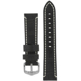 Hirsch KNIGHT Alligator-Embossed Leather Watch Strap - Watch it! Pte Ltd