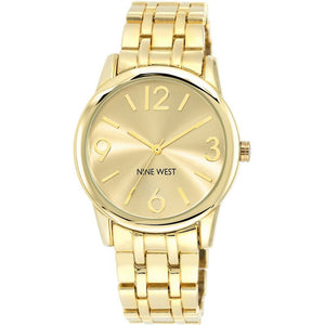 Nine West Gold Tone Ladies Dress Watch NW-1578CHGB - Watch it! Pte Ltd