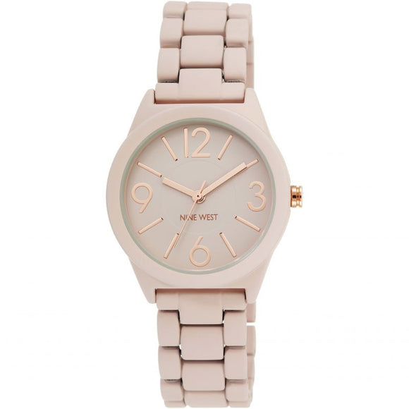 Nine West Matte Pink Rubberized Bracelet Watch NW-1812PKRG - Watch it! Pte Ltd