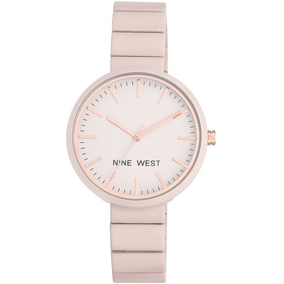 Nine West Pink Rubberized Bracelet Ladies Watch NW-2012LPRG - Watch it! Pte Ltd