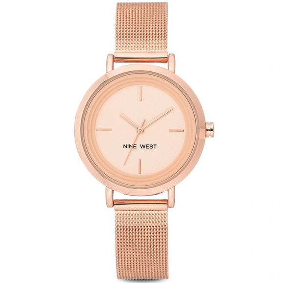 Nine West Rose Gold Tone Mesh Strap Ladies Watch NW-2146RGRG - Watch it! Pte Ltd