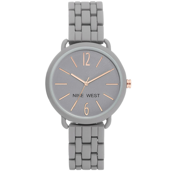 Nine West Grey Rubberized Bracelet Ladies Watch NW-2148GYGY - Watch it! Pte Ltd