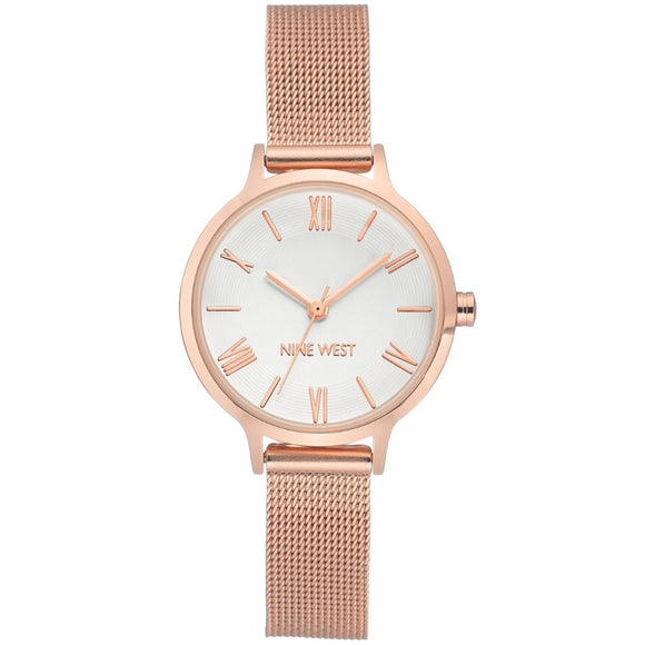 Nine West Rose Gold tone Mesh Strap Ladies Watch NW-2228SVRG - Watch it! Pte Ltd