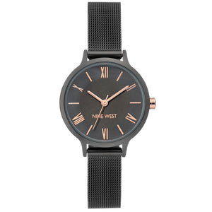 Nine West Gunmetal Mesh Strap Ladies Watch NW-2229GYRT - Watch it! Pte Ltd