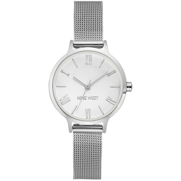 Nine West Silver Tone Mesh Strap Ladies Watch NW-2229SVSV - Watch it! Pte Ltd