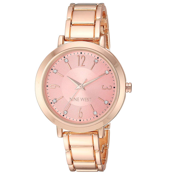 Nine West Crystal Accented Rose Gold Ladies Watch NW-2276RORG - Watch it! Pte Ltd
