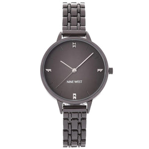 Nine West Grey Dial Gunmetal Bracelet Ladies Watch NW-2339GYGY - Watch it! Pte Ltd