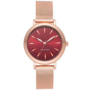 Nine West Rose Gold tone Mesh Strap Ladies Watch NW-2392BYRG - Watch it! Pte Ltd