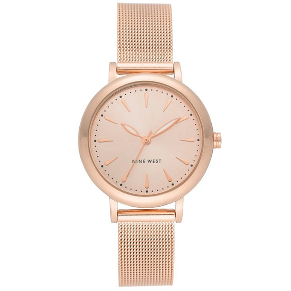 Nine West Rose Gold tone Mesh Strap Ladies Watch NW-2392RGRG - Watch it! Pte Ltd