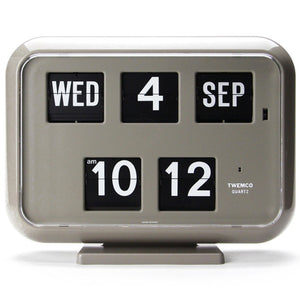 Twemco QD-35 Flip Clock Grey - Watch it! Pte Ltd