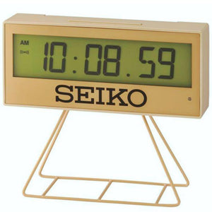 Seiko Gold LCD Timer Digital Alarm Clock With Stand QHL084G - Watch it! Pte Ltd