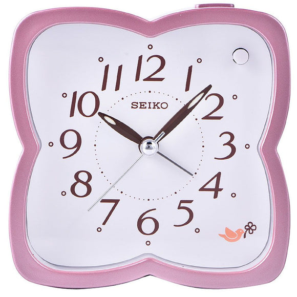 Seiko Alarm clock wIth selectable beep bird sounds (flower shaped) QHP009