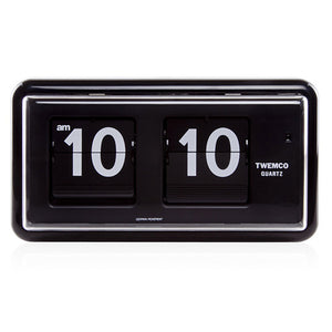 Twemco QT-30 Flip Clock Black - Watch it! Pte Ltd