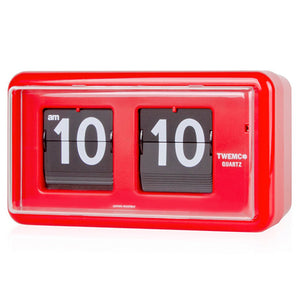 Twemco QT-30 Flip Clock Red - Watch it! Pte Ltd