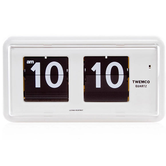 Twemco QT-30 Flip Clock White - Watch it! Pte Ltd