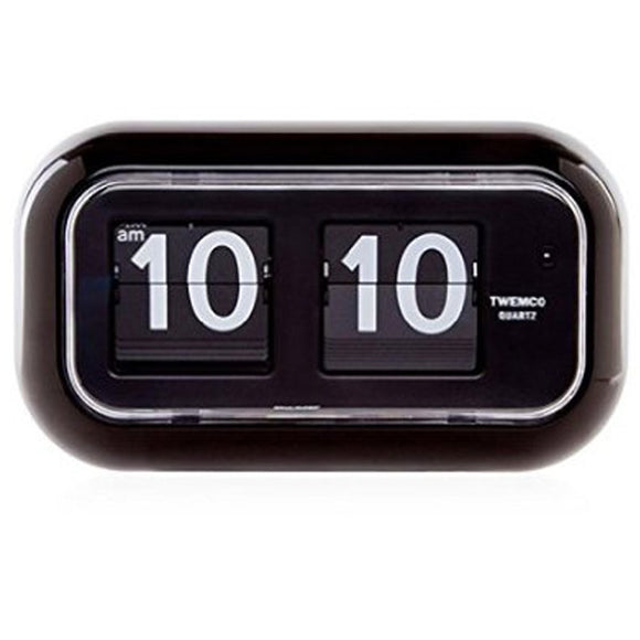 Twemco QT-35 Flip Clock Black - Watch it! Pte Ltd
