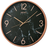 Seiko Gold/Rose Gold Aluminum Bezel - Marble Design Wall Clock QXA760 - Watch it! Pte Ltd