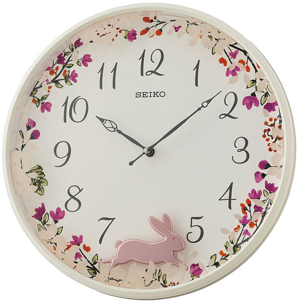 Seiko Wall Clock with Swinging Rabbit Pendulum QXC238 - Watch it! Pte Ltd