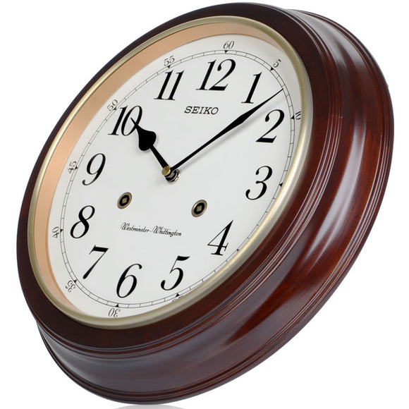 Seiko Wooden Westminster Chime Station Wall Clock - Watch it! Pte Ltd