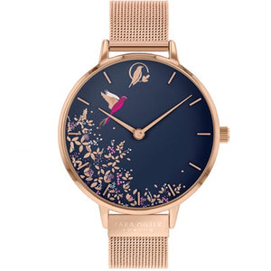 Sara Miller Chelsea - Blue Dial Rose Gold Mesh Strap Watch SA4006 - Watch it! Pte Ltd