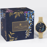 Sara Miller Wisteria - Blue Dial Gold Mesh Strap Watch SA4030 - Watch it! Pte Ltd