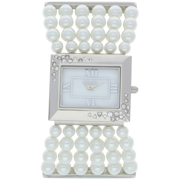 Misaki Super Star Women's White Pearl Strap Watch - Watch it! Pte Ltd