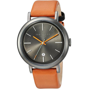 Ted Baker Men's Connor Grey Dial Brown Band Watch TE10031504 - Watch it! Pte Ltd