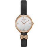Ted Baker Womens Elana Bow Charm Leather Strap Watch TE15198002 - Watch it! Pte Ltd