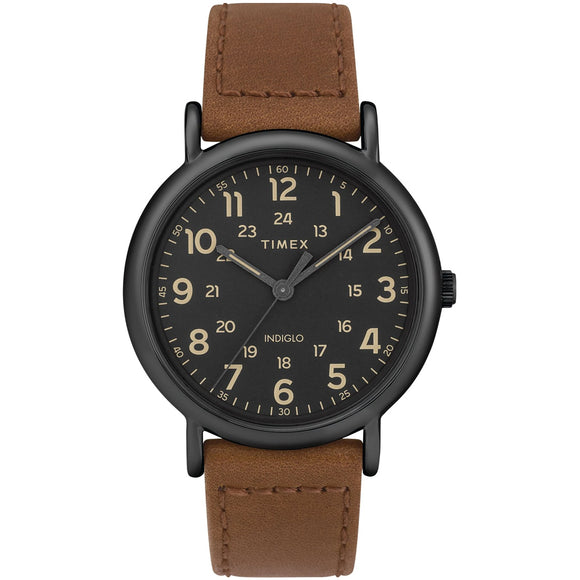 Timex WEEKENDER 40mm Leather Strap Watch TW2T30500 - Watch it! Pte Ltd