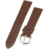 Hirsch Umbria Untextured Leather Watch Strap, Matching Stitching - Watch it! Pte Ltd