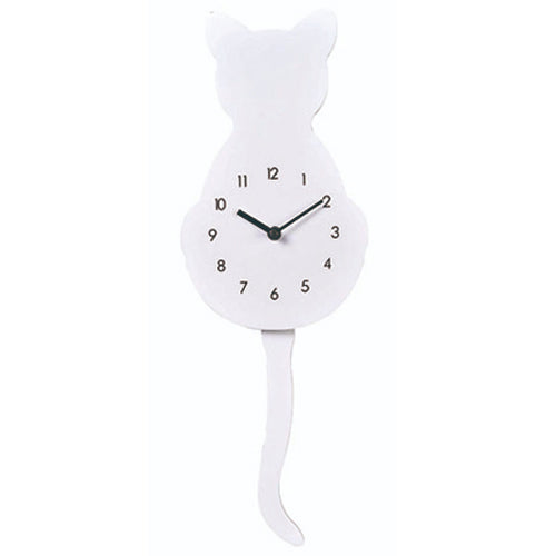 Young Town Cat Tail Swinging Pendulum Wall Clock - Watch it! Pte Ltd
