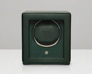 Wolf Cub Watch Winder With Cover (Green) - Watch it! Pte Ltd