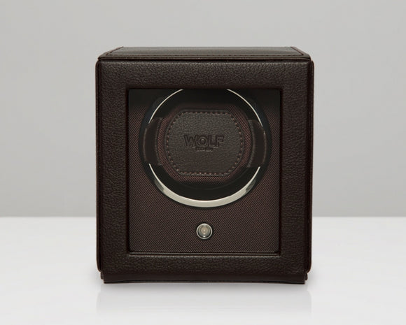 Wolf Cub Watch Winder With Cover (Brown) - Watch it! Pte Ltd