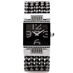 Misaki Hamptons Black Pearl Strap Watch - Watch it! Pte Ltd