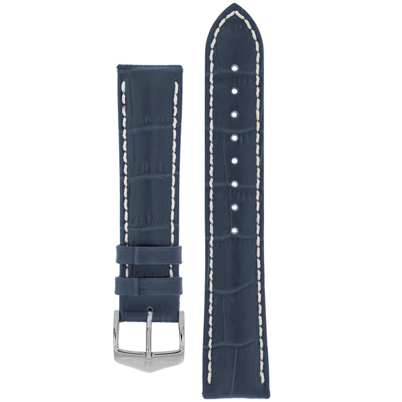Hirsch MODENA Alligator Embossed Leather Watch Strap - Watch it! Pte Ltd