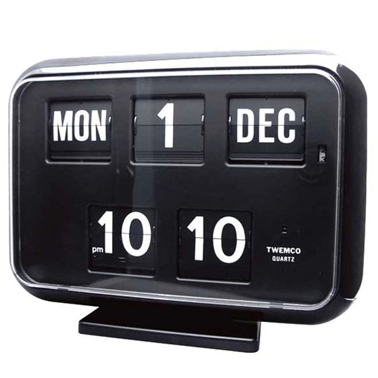 Twemco QD-35 Flip Clock Black - Watch it! Pte Ltd