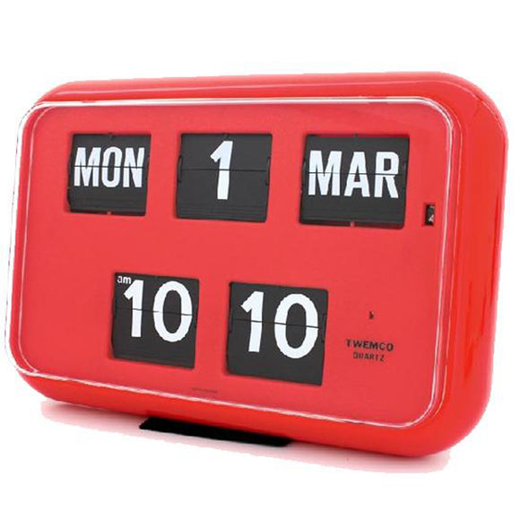 Twemco QD-35 Flip Clock Red - Watch it! Pte Ltd