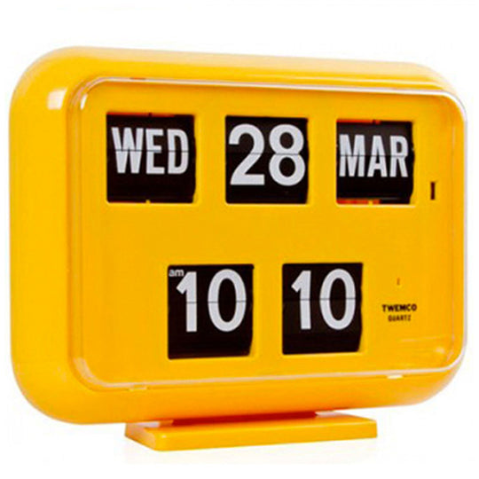 Twemco QD-35 Flip Clock Yellow - Watch it! Pte Ltd