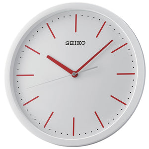 Seiko White Dial Wall clock with Red/Blue Indicators QXA476 - Watch it! Pte Ltd