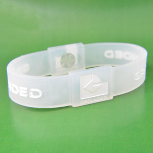 Grounded Energetic Wristband (Translucent/White) - Watch it! Pte Ltd