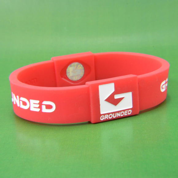 Grounded Energetic Wristband (Red/White) - Watch it! Pte Ltd