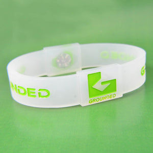 Grounded Energetic Wristband (Translucent/Green) - Watch it! Pte Ltd