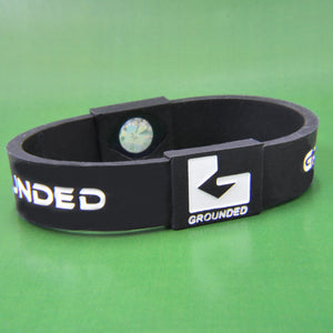 Grounded Energetic Wristband (Black/White) - Watch it! Pte Ltd
