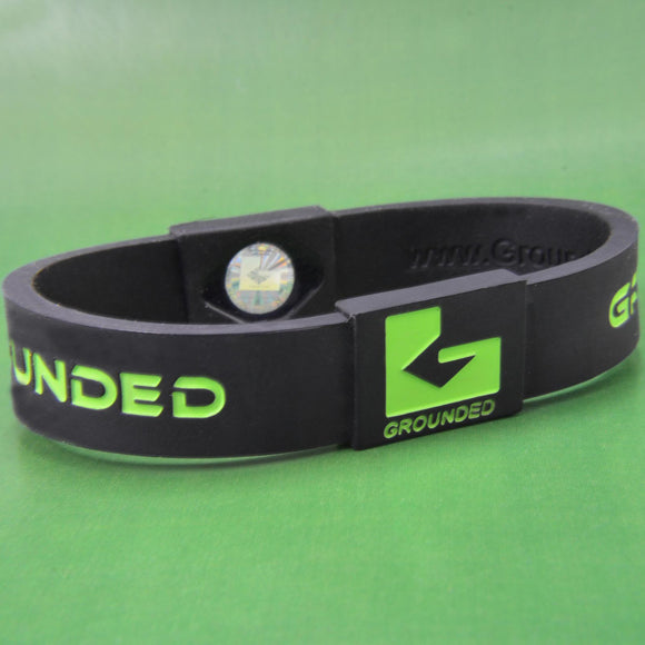 Grounded Energetic Wristband (Black/Green) - Watch it! Pte Ltd