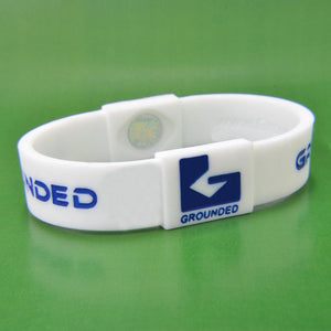 Grounded Energetic Wristband (White/Blue) - Watch it! Pte Ltd
