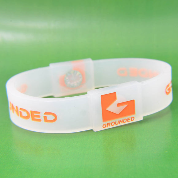 Grounded Energetic Wristband (Translucent/Orange) - Watch it! Pte Ltd